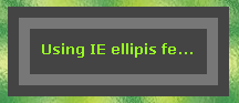 IE Ellipsis